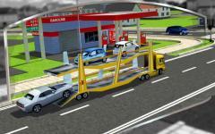 3D Car Transport Trailer  regular screenshot 5/6