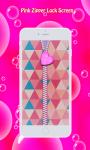 Pink Zipper Lock Screen screenshot 3/6