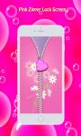 Pink Zipper Lock Screen screenshot 4/6