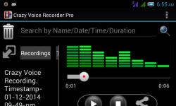 Crazy Voice Recorder screenshot 2/6