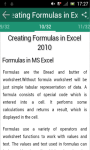 MS Excel 2010 tutorial screenshot 1/3