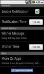 Qs Smart Birthday Wisher screenshot 3/5