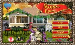 Free Hidden Object Game - Happy Home screenshot 1/4