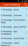 Learn PhoneGap screenshot 1/3
