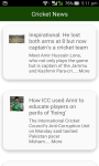 Latest Cricket News screenshot 2/6