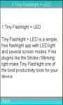 Blinking light Tiny Flashlight screenshot 1/1