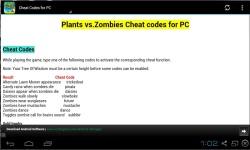 Plants vs Zombies Cheat Codes 2014 screenshot 2/3