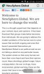 NewSphere Global screenshot 1/2
