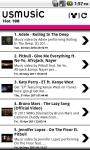 US Music Chart screenshot 1/2
