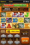 Mega Moolah Progressive Slots screenshot 1/2