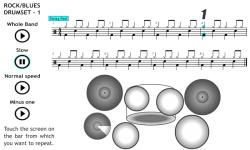 Play Rock Blues on the Drum Set 1 screenshot 2/4
