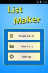 List Maker screenshot 1/5