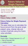 Future Value for Single Payment screenshot 3/3