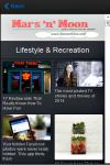 Mars n Moon Mobile News Reader screenshot 2/6