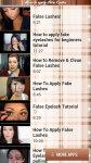 How to Apply False Lashes free screenshot 4/4