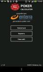 Enterra Poker Calculator screenshot 3/4
