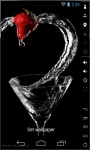 Strawberry Martini Live Wallpaper screenshot 1/2