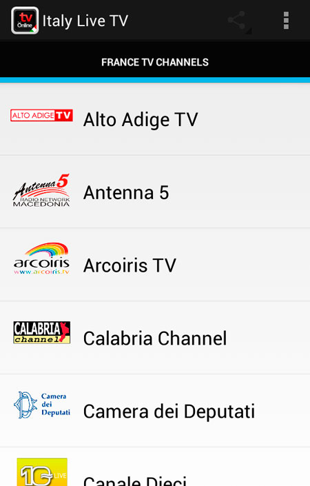 Free free italy tv live apk download for android getjar for Camera deputati live