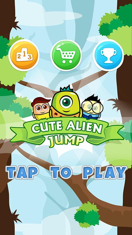 Cute Alien Jump
