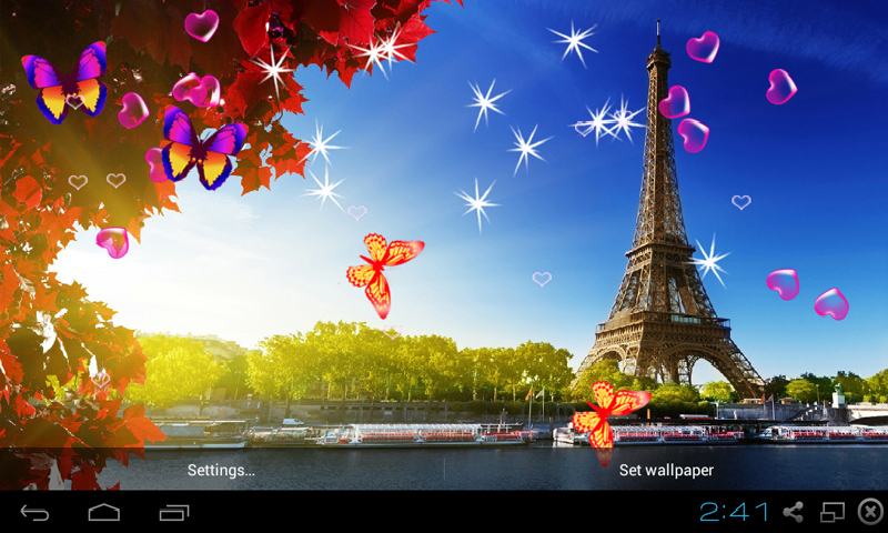 free 3d eiffel tower live wallpaper apk download for