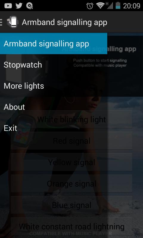 Armband signalling app