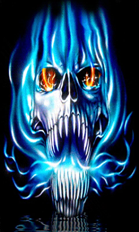 Free Blue Flame Skull LWP APK Download For Android | GetJar
